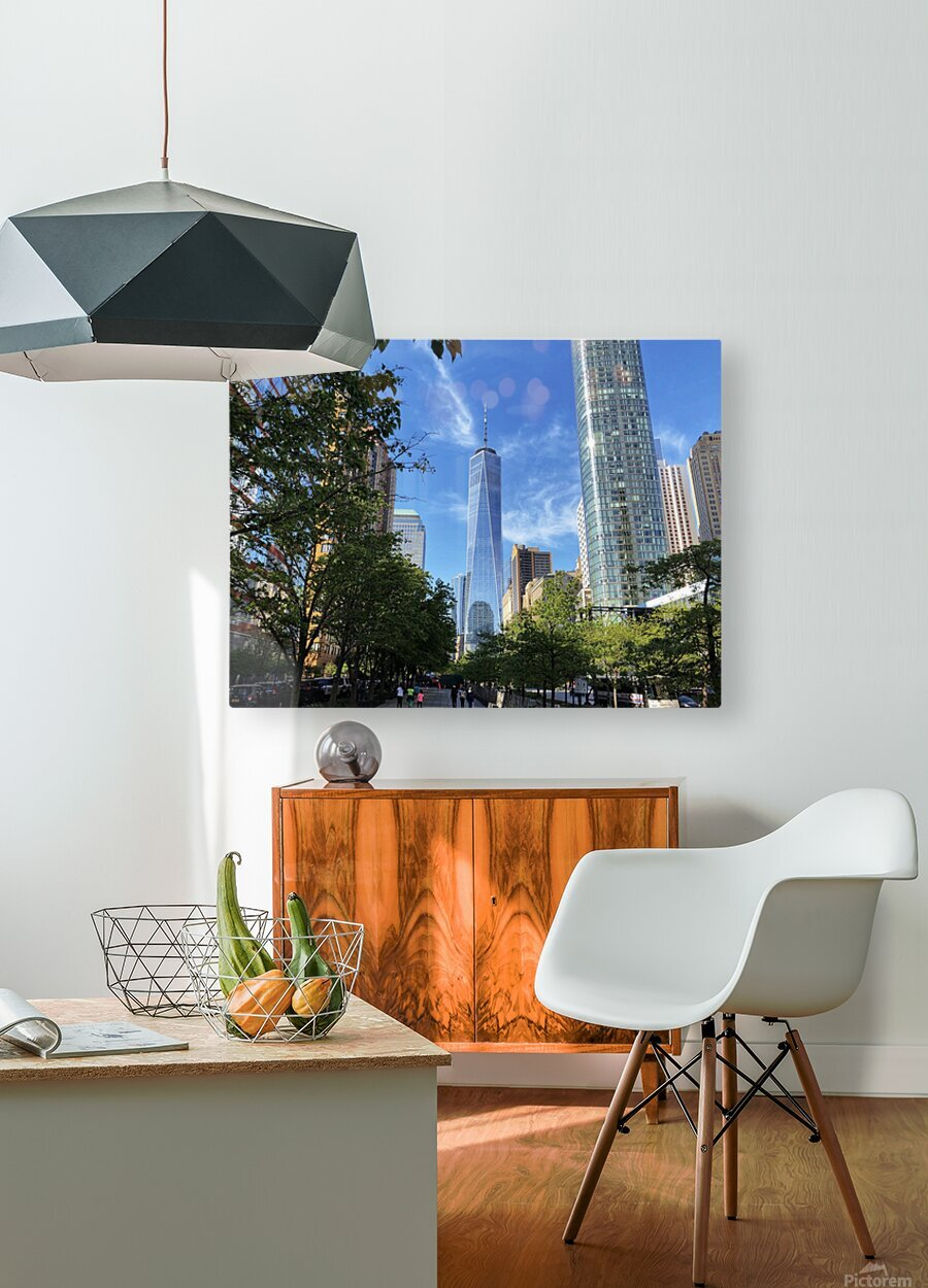 One World Trade Center  HD Metal print with Floating Frame on Back