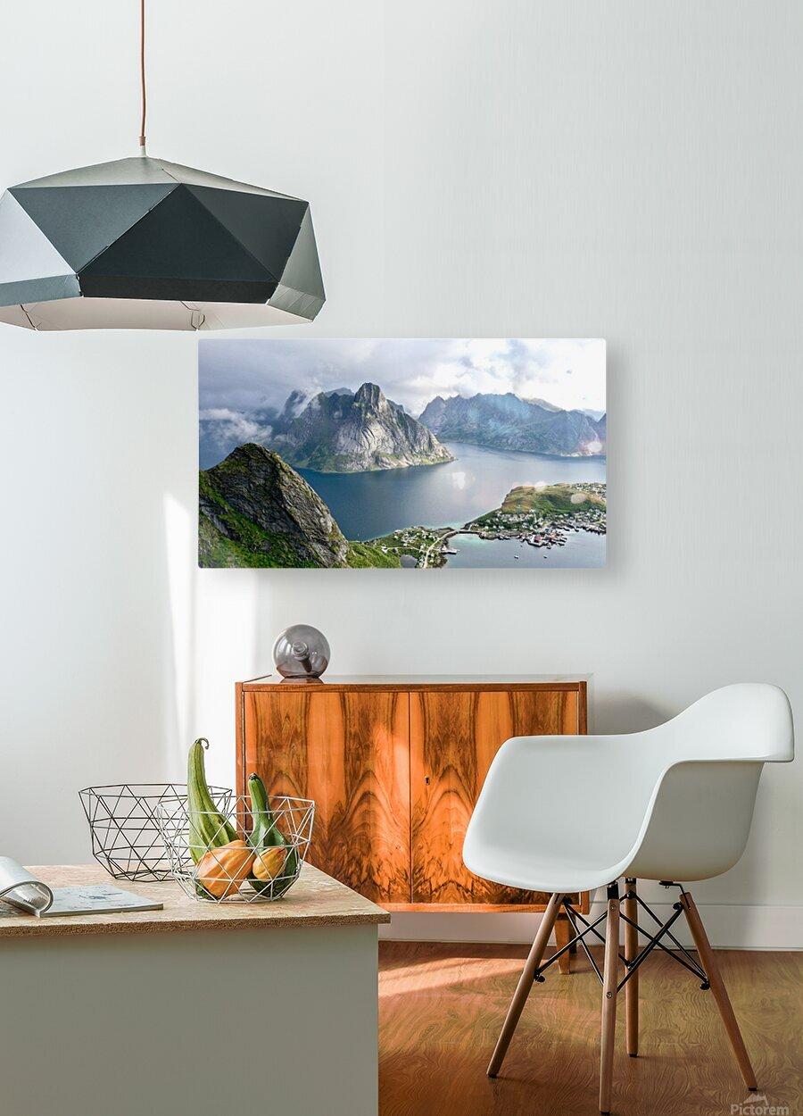 Lofoten 3  HD Metal print with Floating Frame on Back