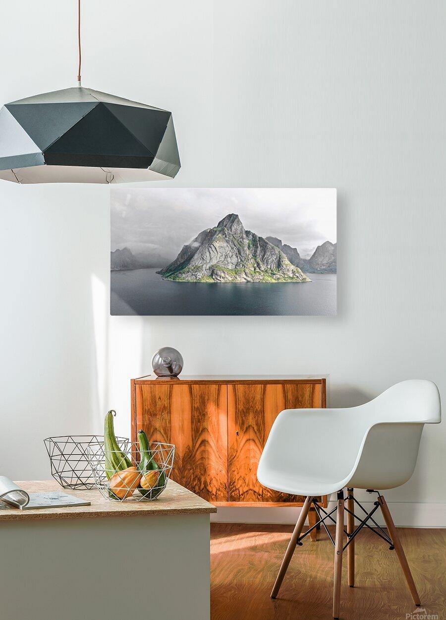 Lofoten 1 Stylized  HD Metal print with Floating Frame on Back