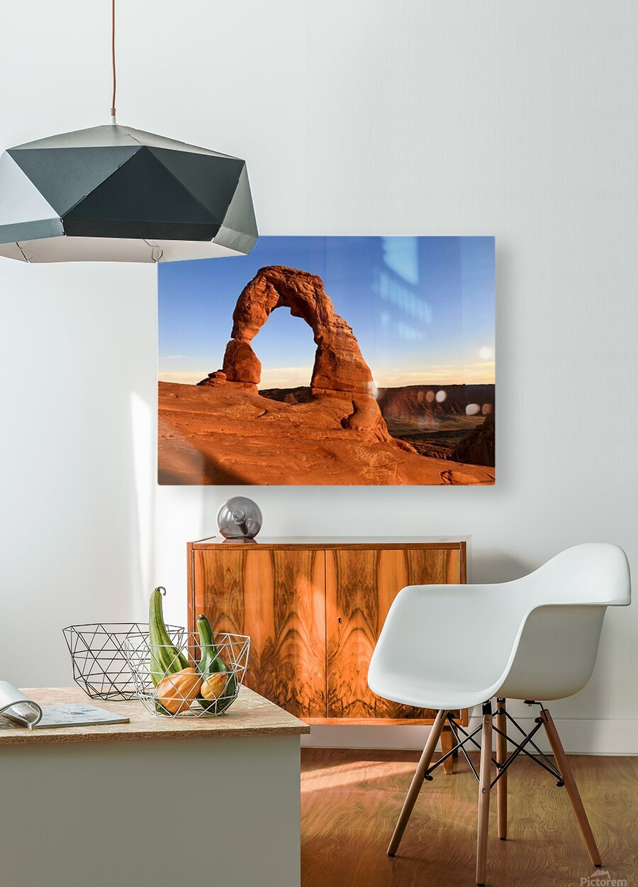 Delicate Arch  HD Metal print with Floating Frame on Back