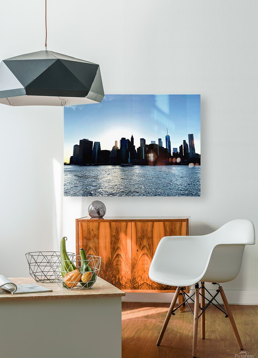 Before the Lights Come On  HD Metal print with Floating Frame on Back