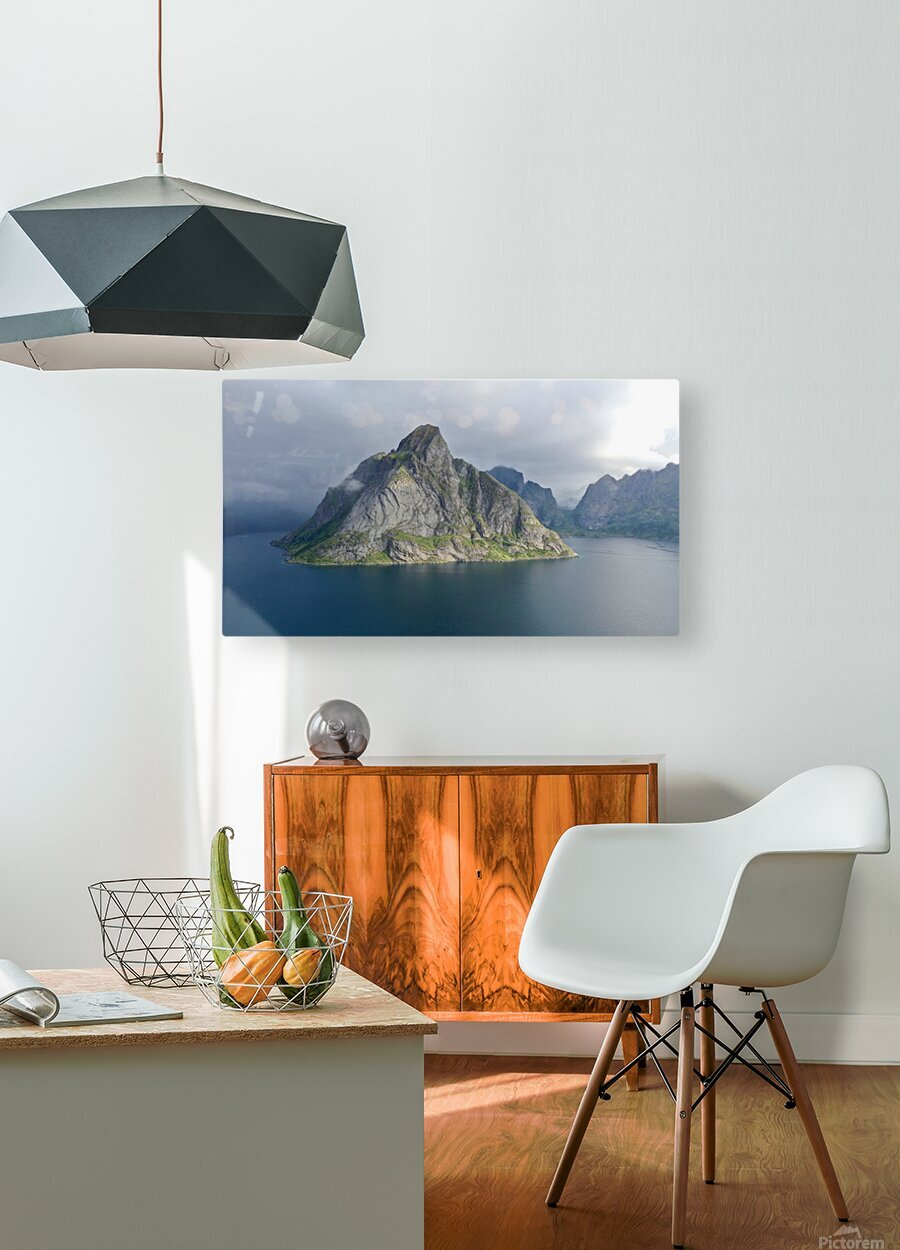 Lofoten 1  HD Metal print with Floating Frame on Back