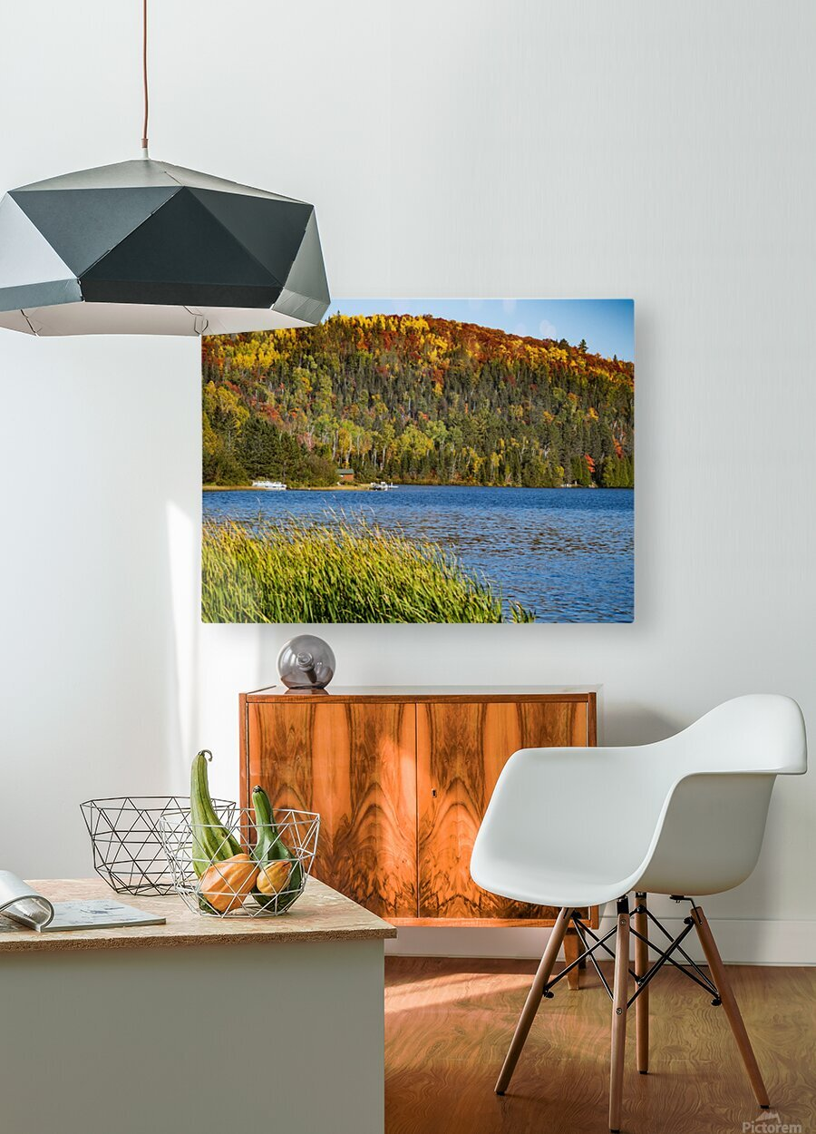 Lax Lake Mn  HD Metal print with Floating Frame on Back