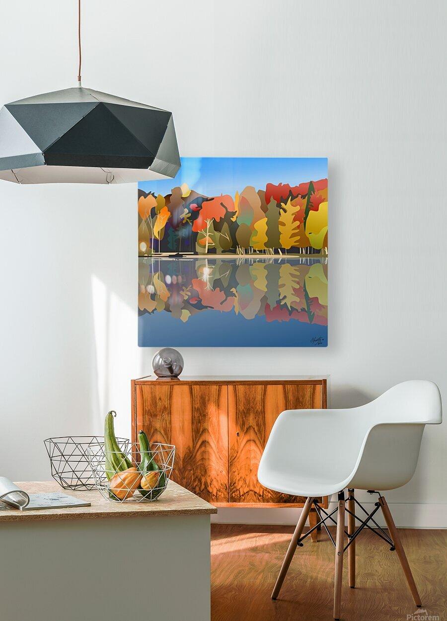Crystal Lake  HD Metal print with Floating Frame on Back
