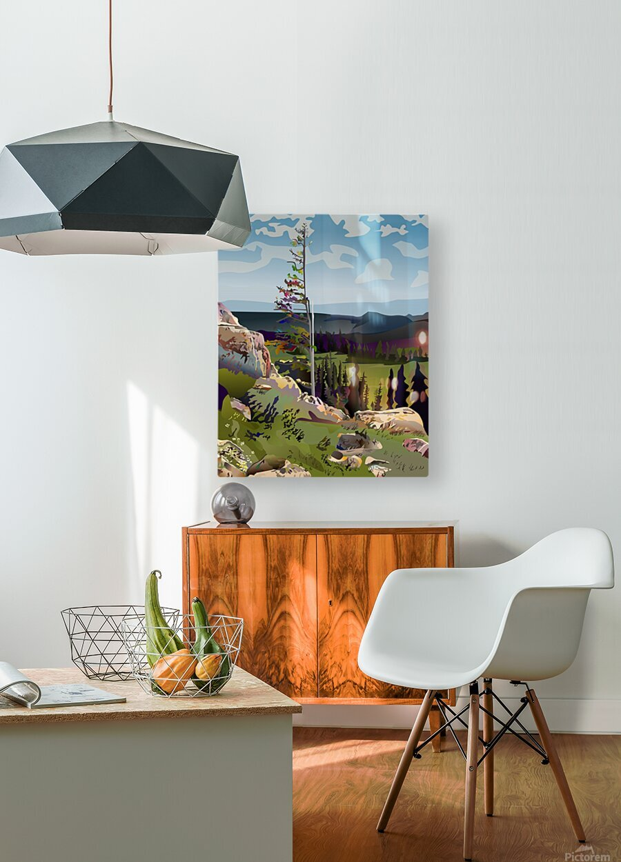 Lone Tree  HD Metal print with Floating Frame on Back
