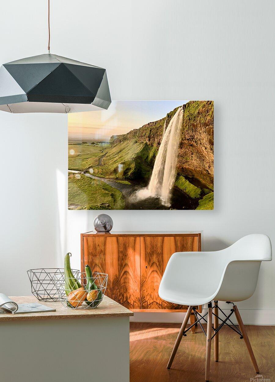 Seljalandsfoss  HD Metal print with Floating Frame on Back