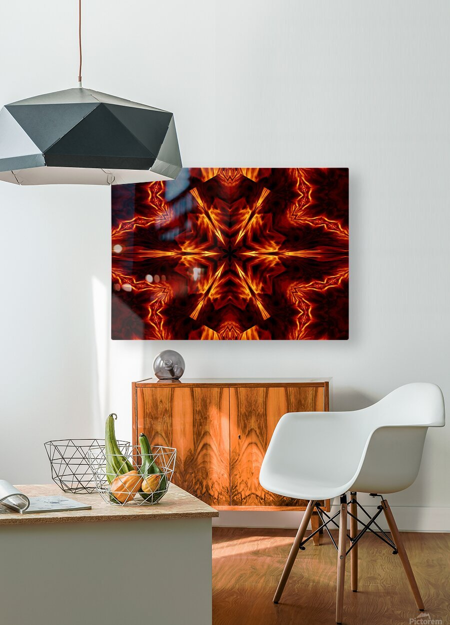 Eternal Flame Flowers 1  HD Metal print with Floating Frame on Back