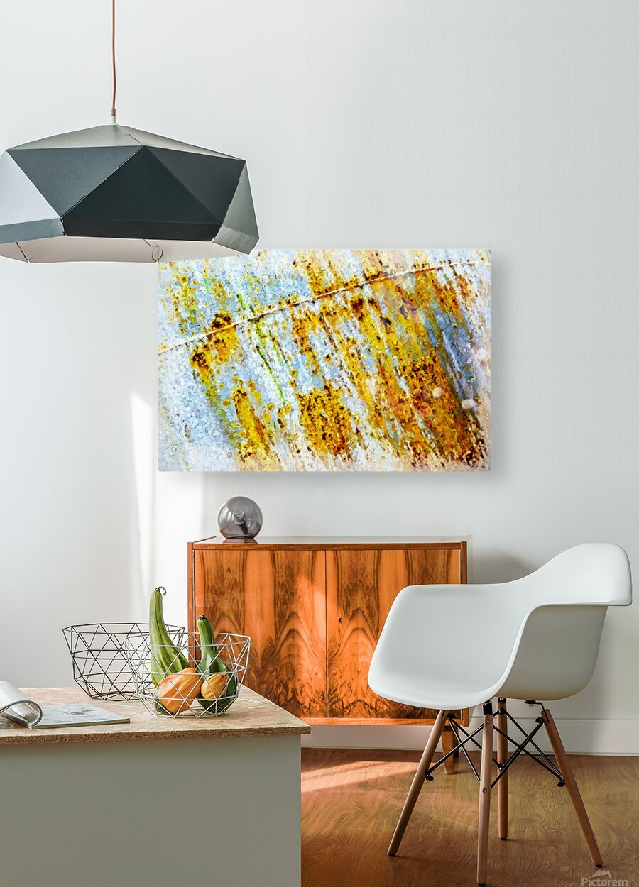Rusty Barrel  HD Metal print with Floating Frame on Back