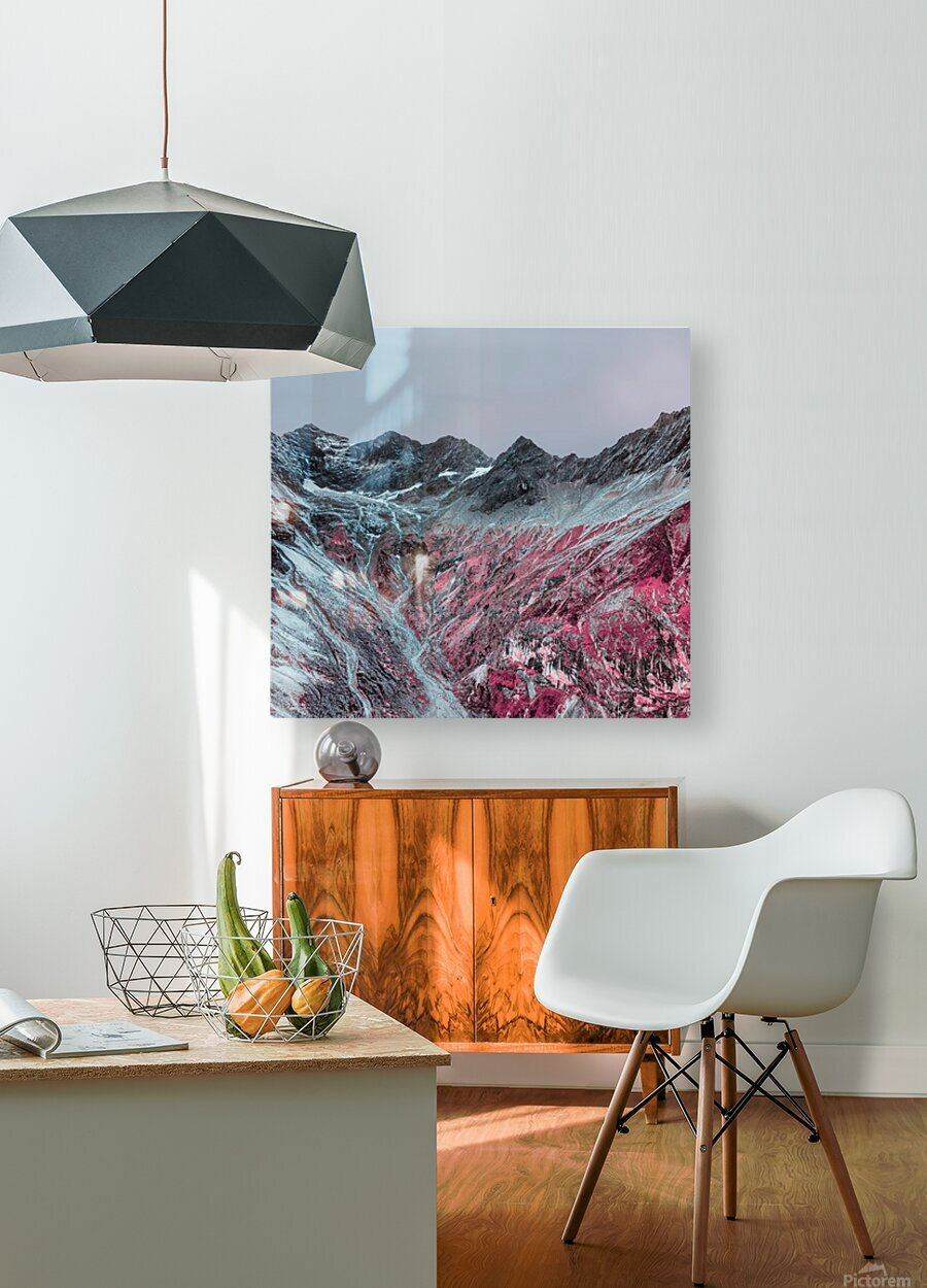 Color change  HD Metal print with Floating Frame on Back