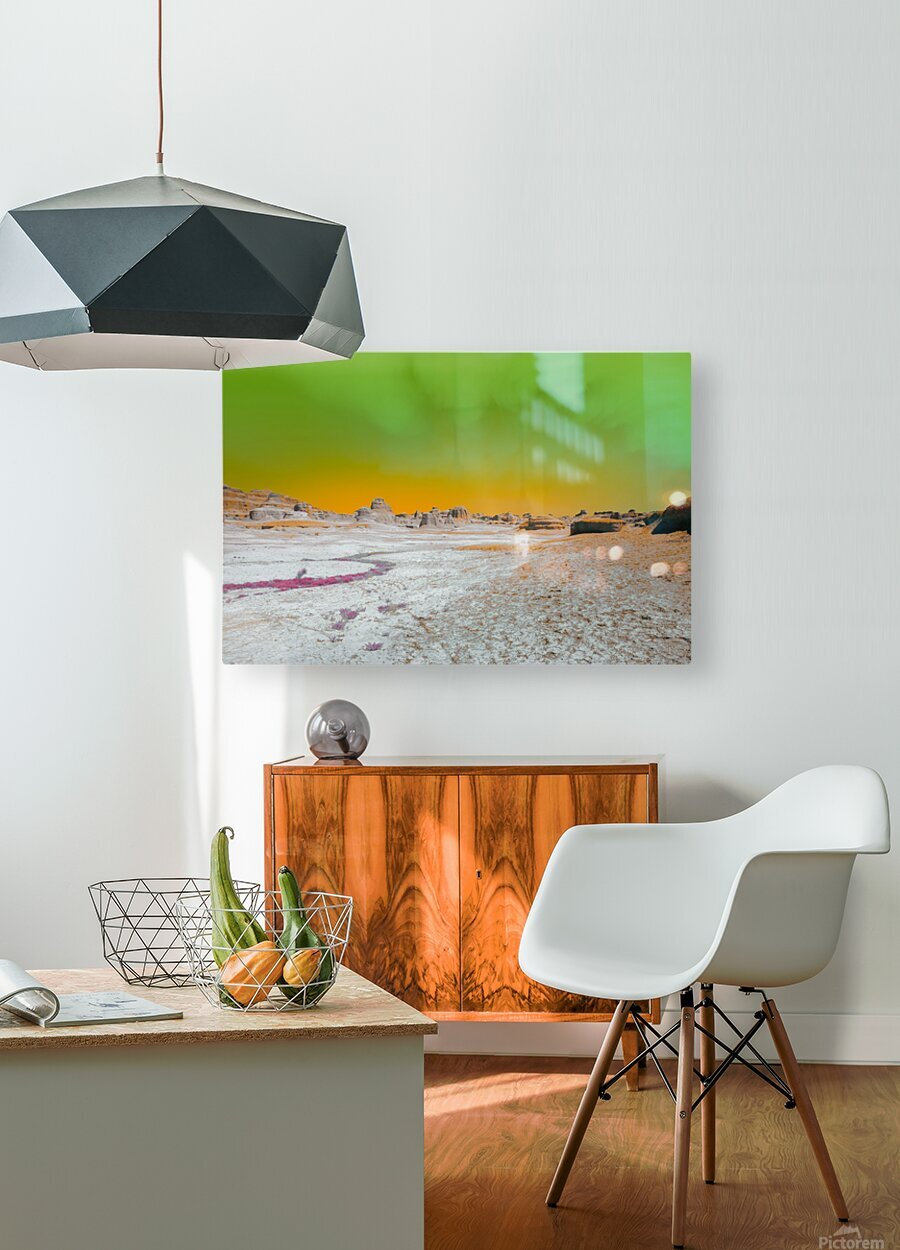 Ghost City  HD Metal print with Floating Frame on Back