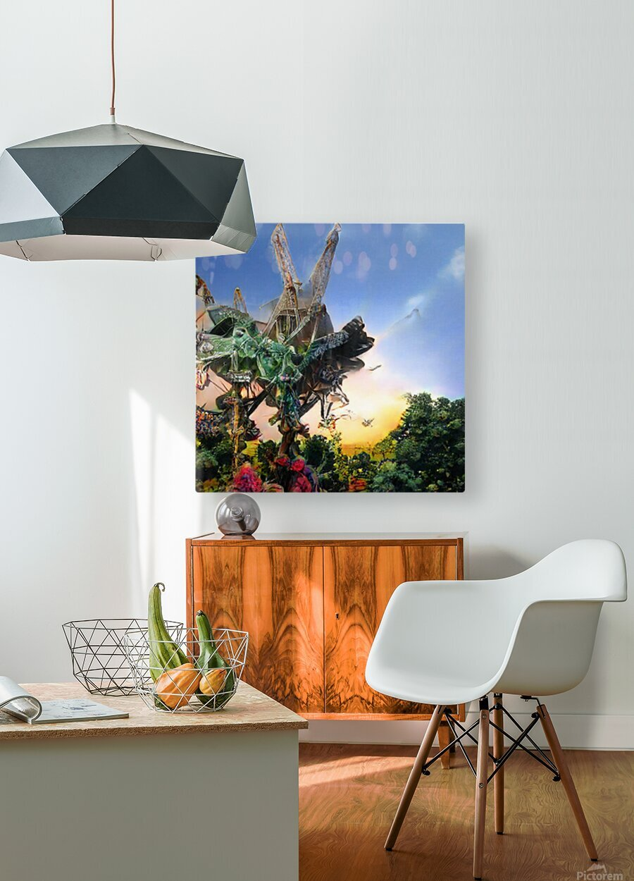 Composicion10077  HD Metal print with Floating Frame on Back