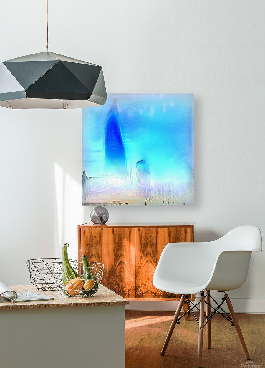 Composicion100  HD Metal print with Floating Frame on Back