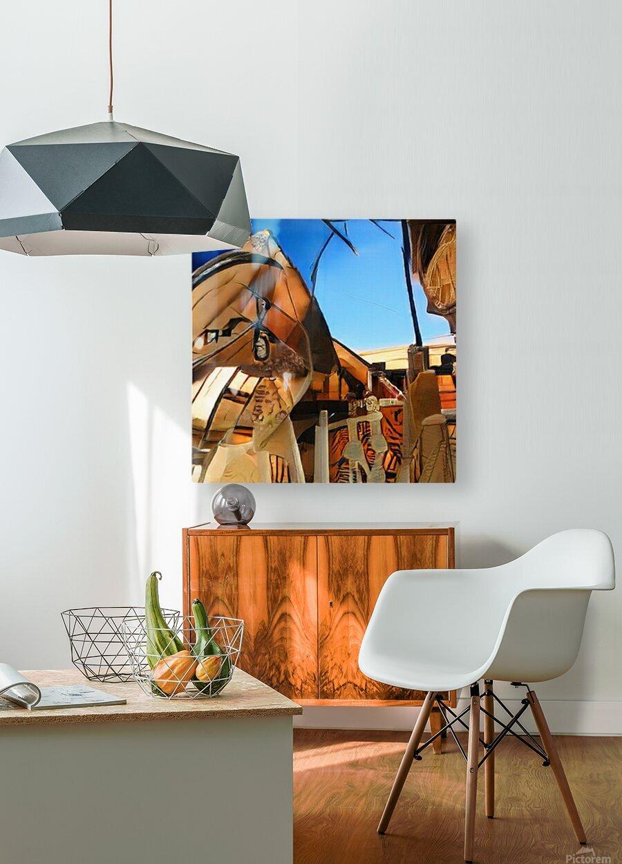 Composicion10023  HD Metal print with Floating Frame on Back
