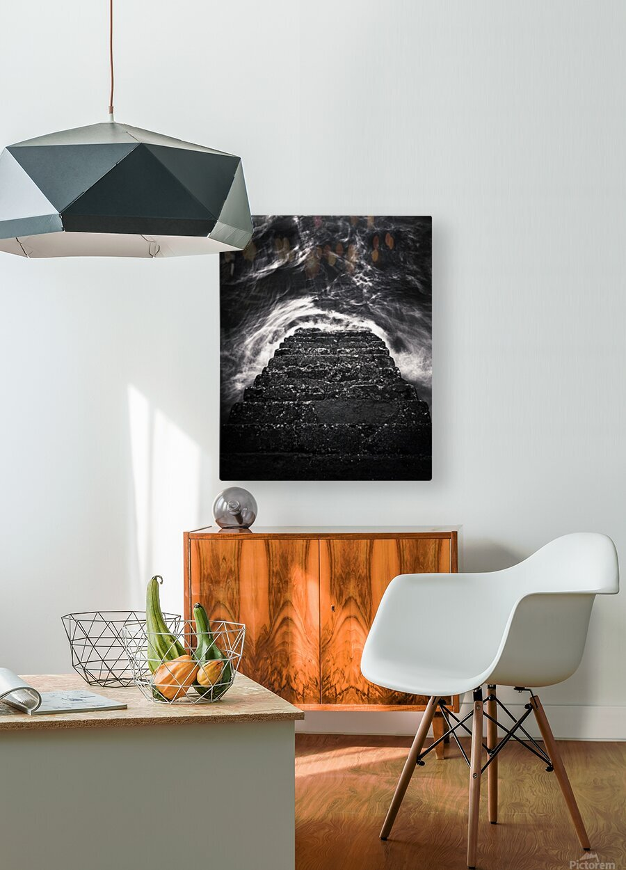 Descend and Ascend  HD Metal print with Floating Frame on Back