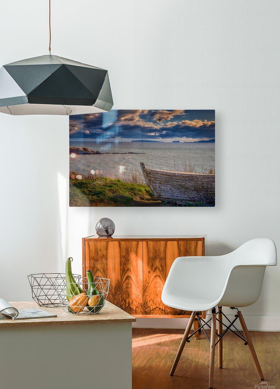 Chaloupe Belle-Anse en ete  Impression métal HD avec cadre flottant sur le dos