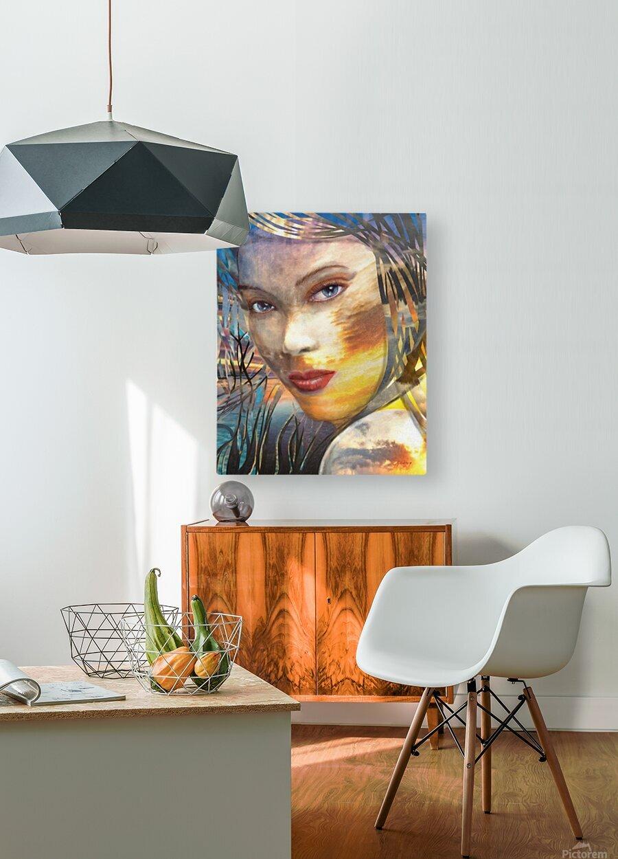 GOLDEN SUNRISE  HD Metal print with Floating Frame on Back