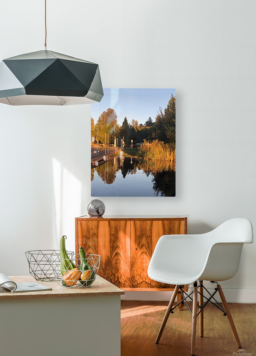 image  HD Metal print with Floating Frame on Back