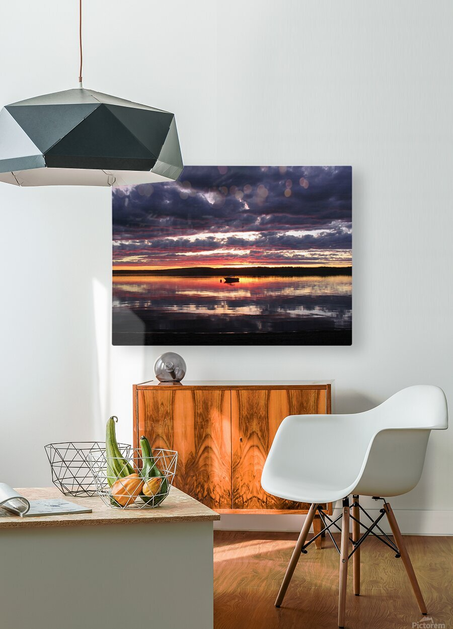 Sunset GL  HD Metal print with Floating Frame on Back