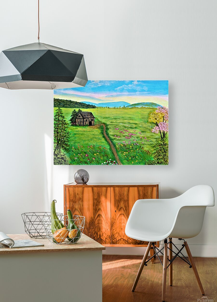 Sweet Little Home on Plains  HD Metal print with Floating Frame on Back