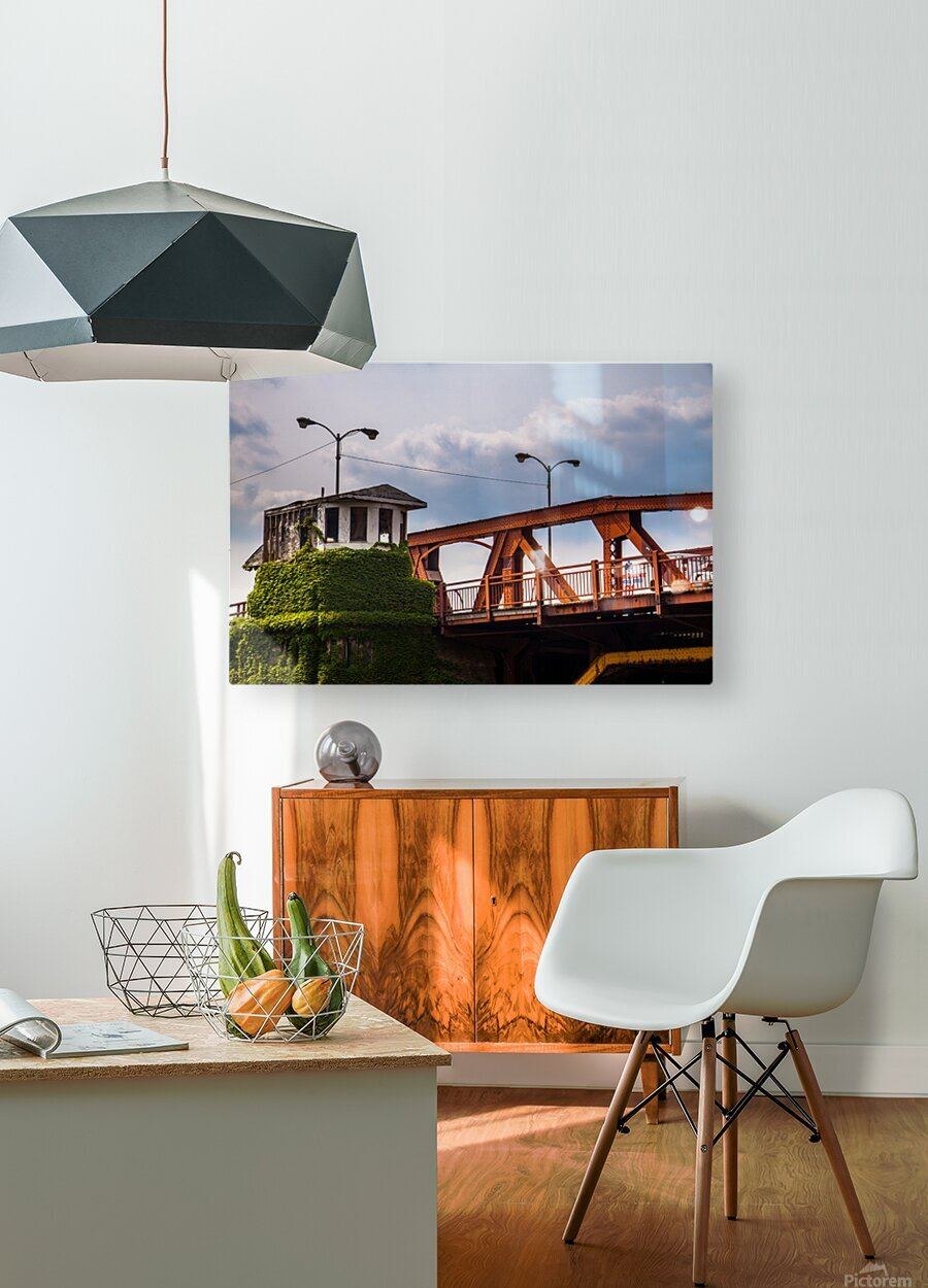 Chicago  HD Metal print with Floating Frame on Back