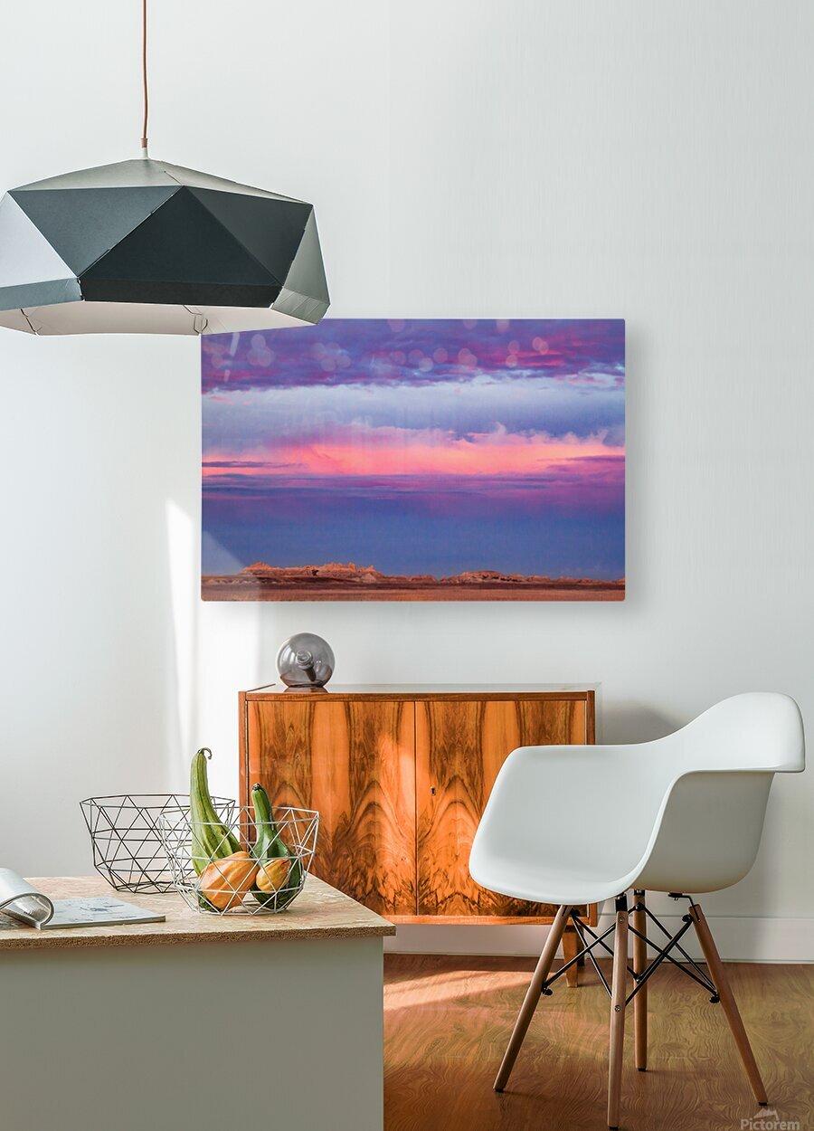 Light Banding  HD Metal print with Floating Frame on Back