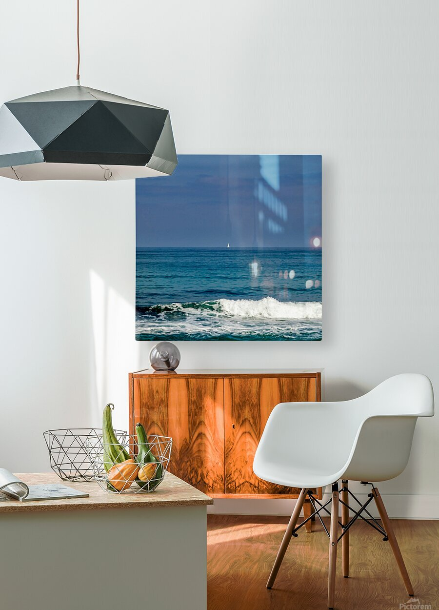 Sailing  HD Metal print with Floating Frame on Back