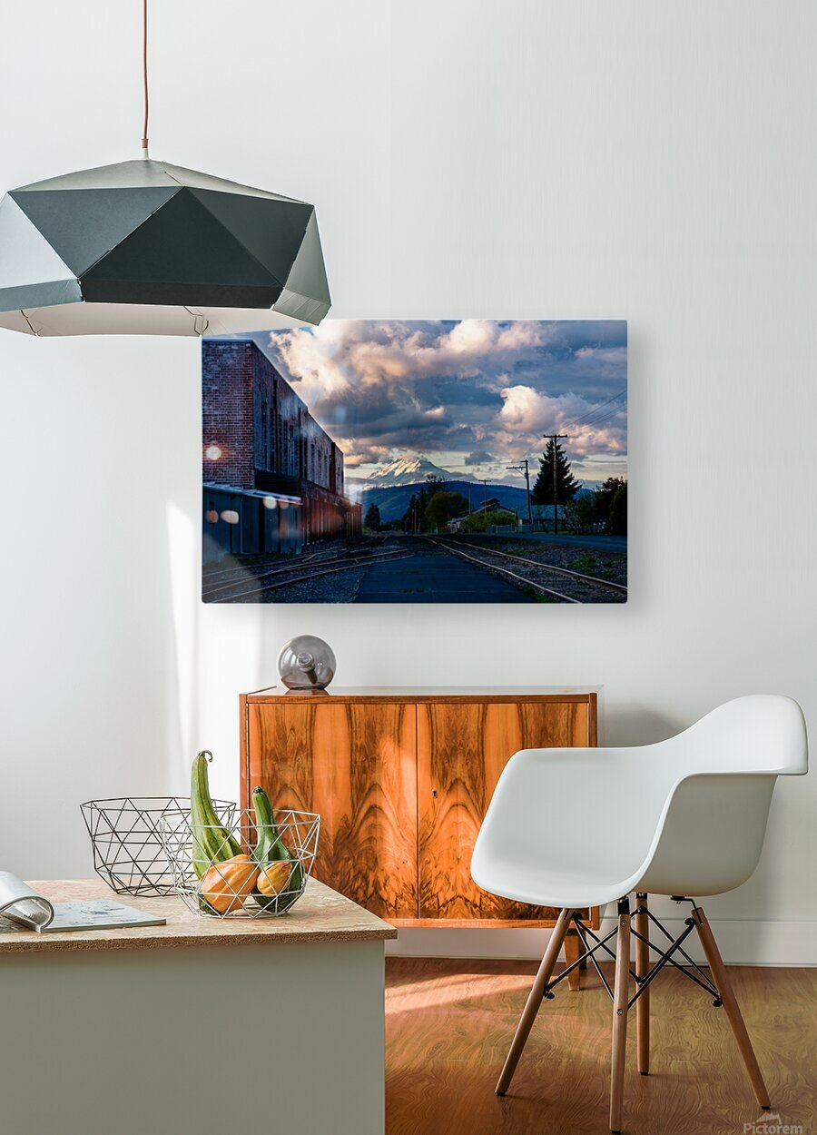 Convergence  HD Metal print with Floating Frame on Back