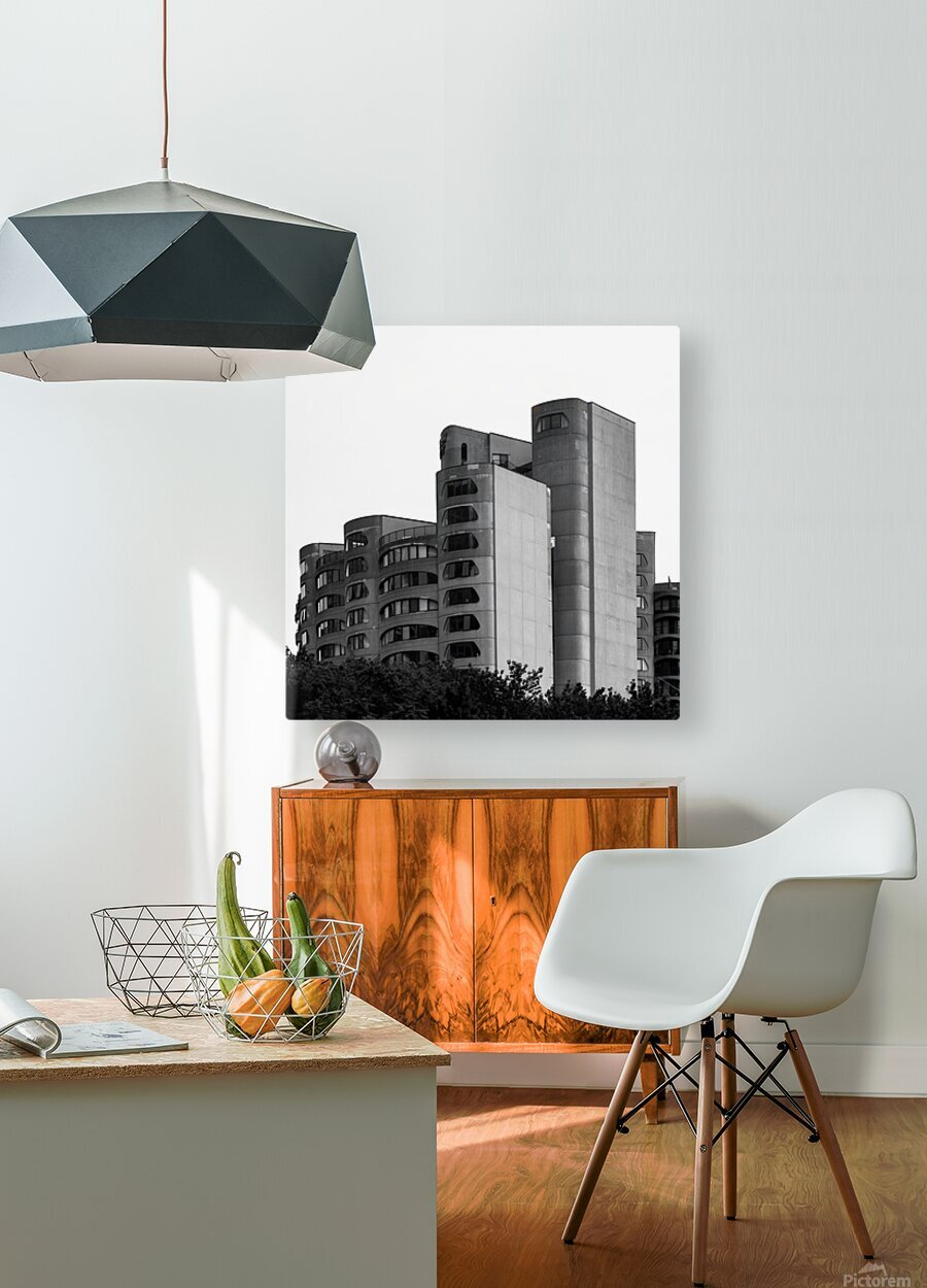 Architect  HD Metal print with Floating Frame on Back