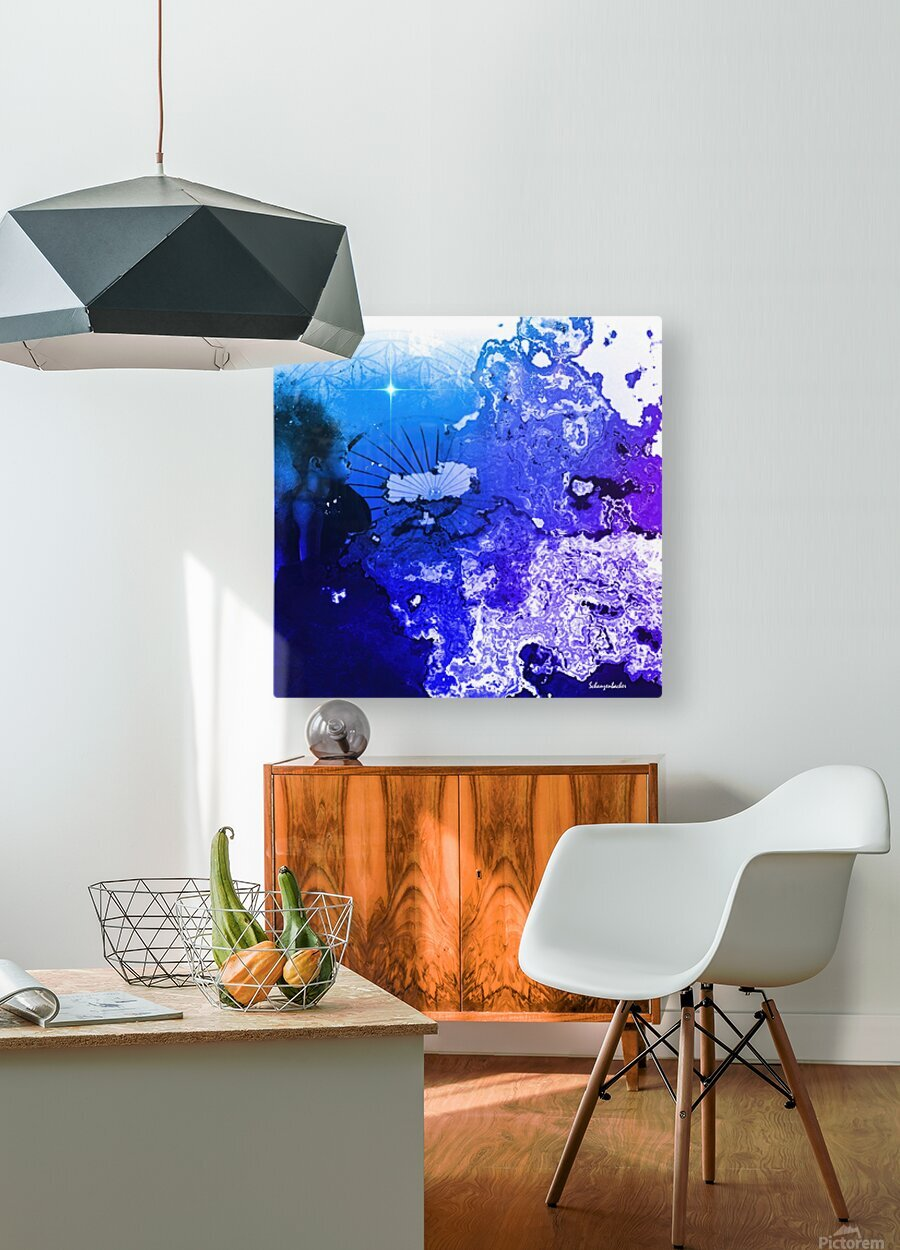 Birth  HD Metal print with Floating Frame on Back