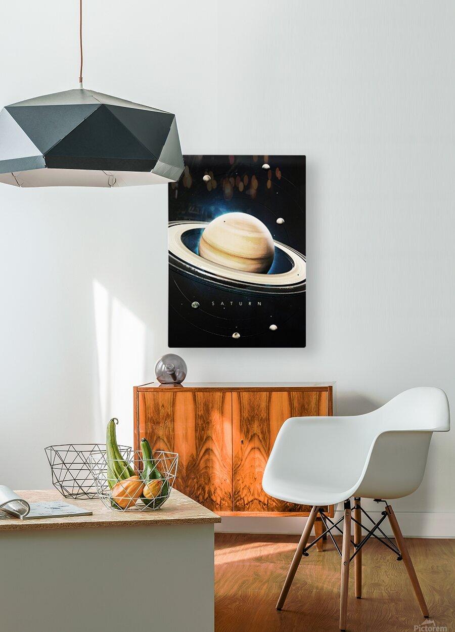 Destination Saturn  HD Metal print with Floating Frame on Back
