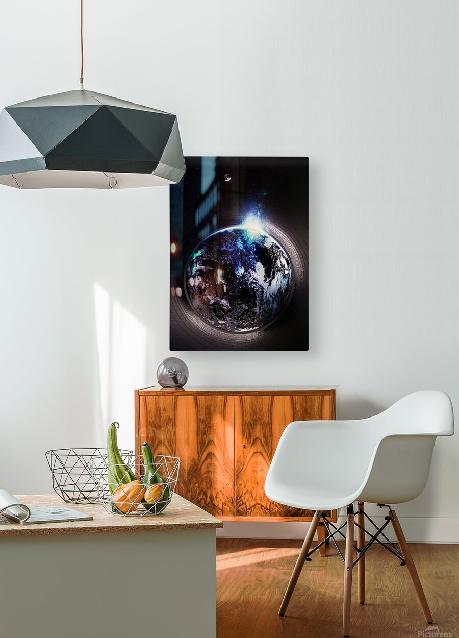 Cosmic Sapphire  HD Metal print with Floating Frame on Back