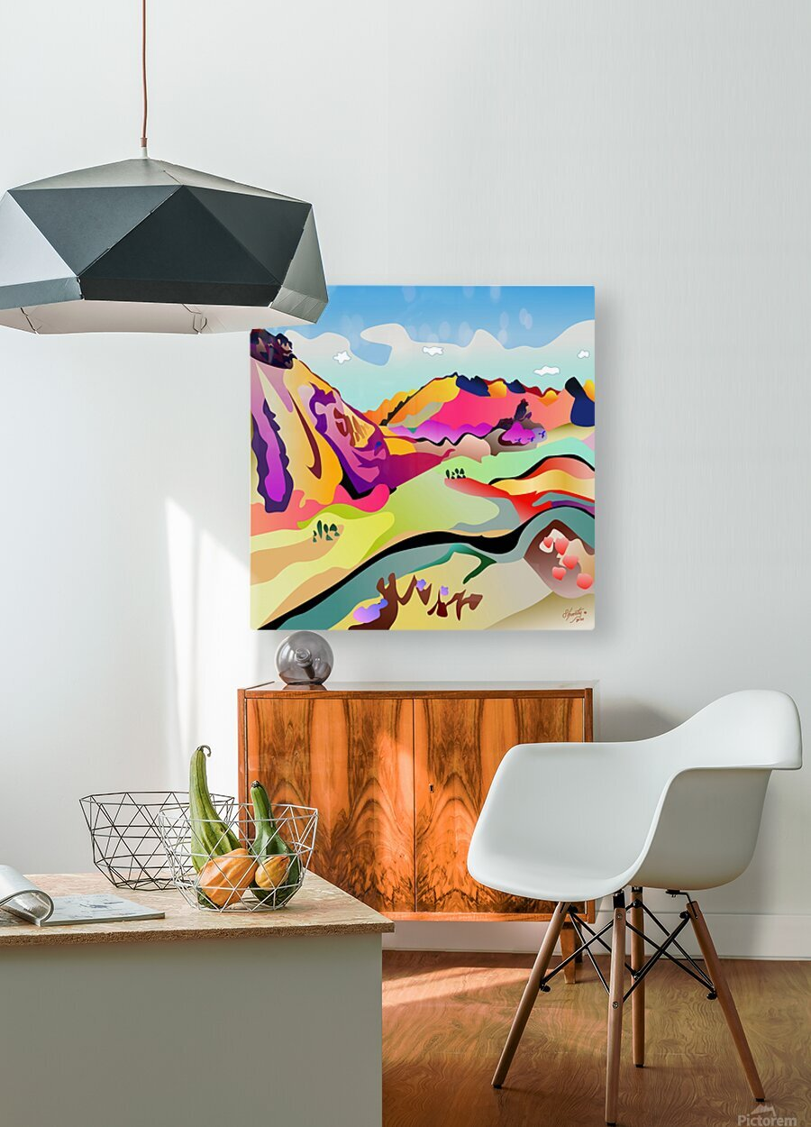 Sybille Range  HD Metal print with Floating Frame on Back