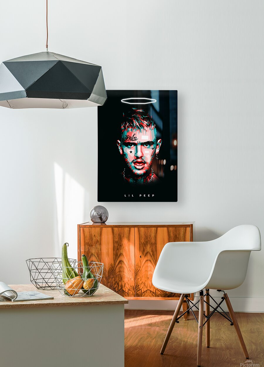 LIL PEEP  HD Metal print with Floating Frame on Back