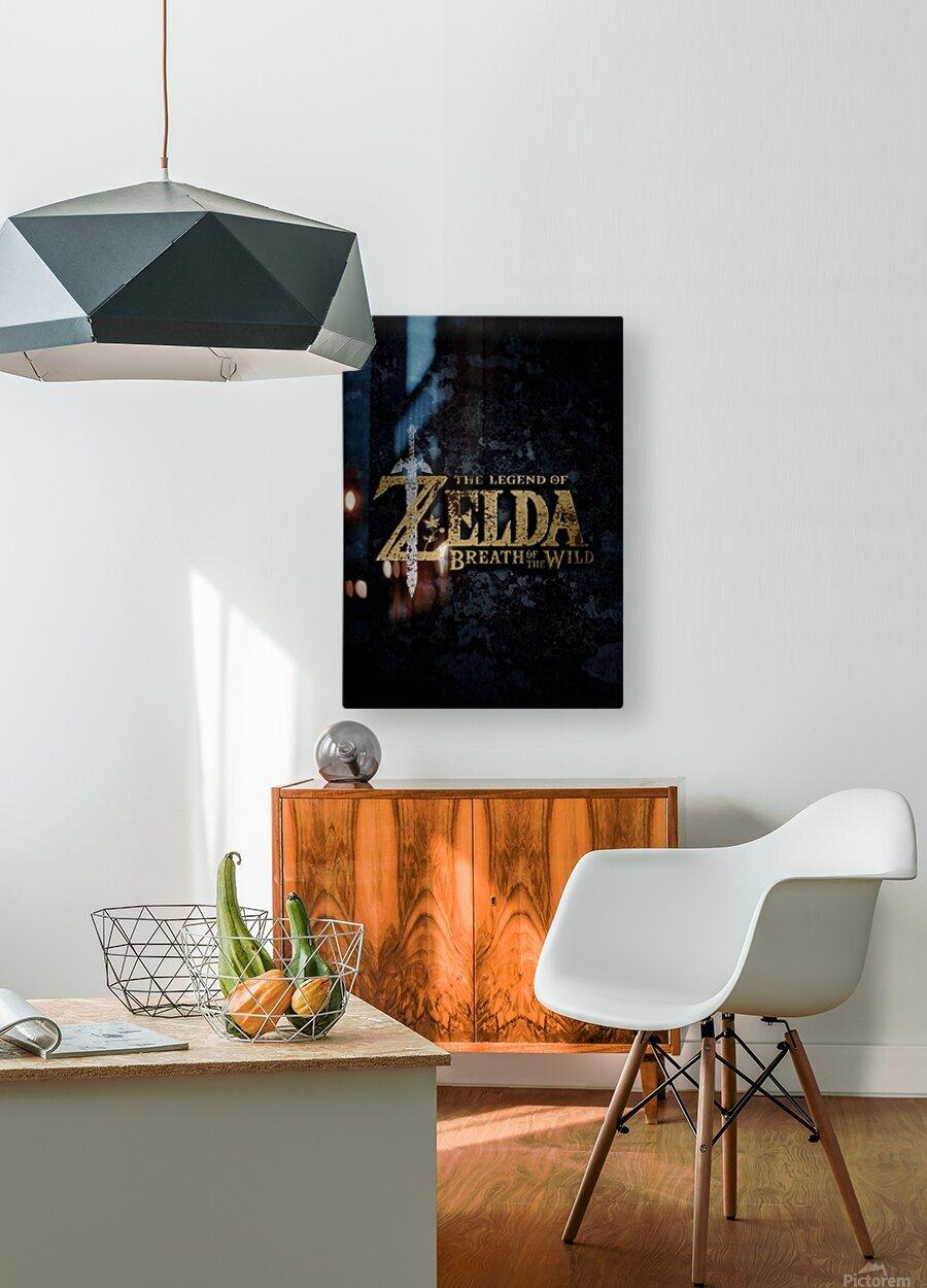 The Legend Of ZELDA  HD Metal print with Floating Frame on Back
