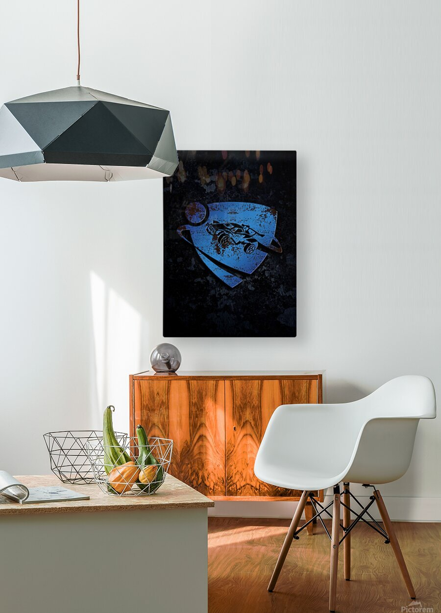 Rocket League  HD Metal print with Floating Frame on Back