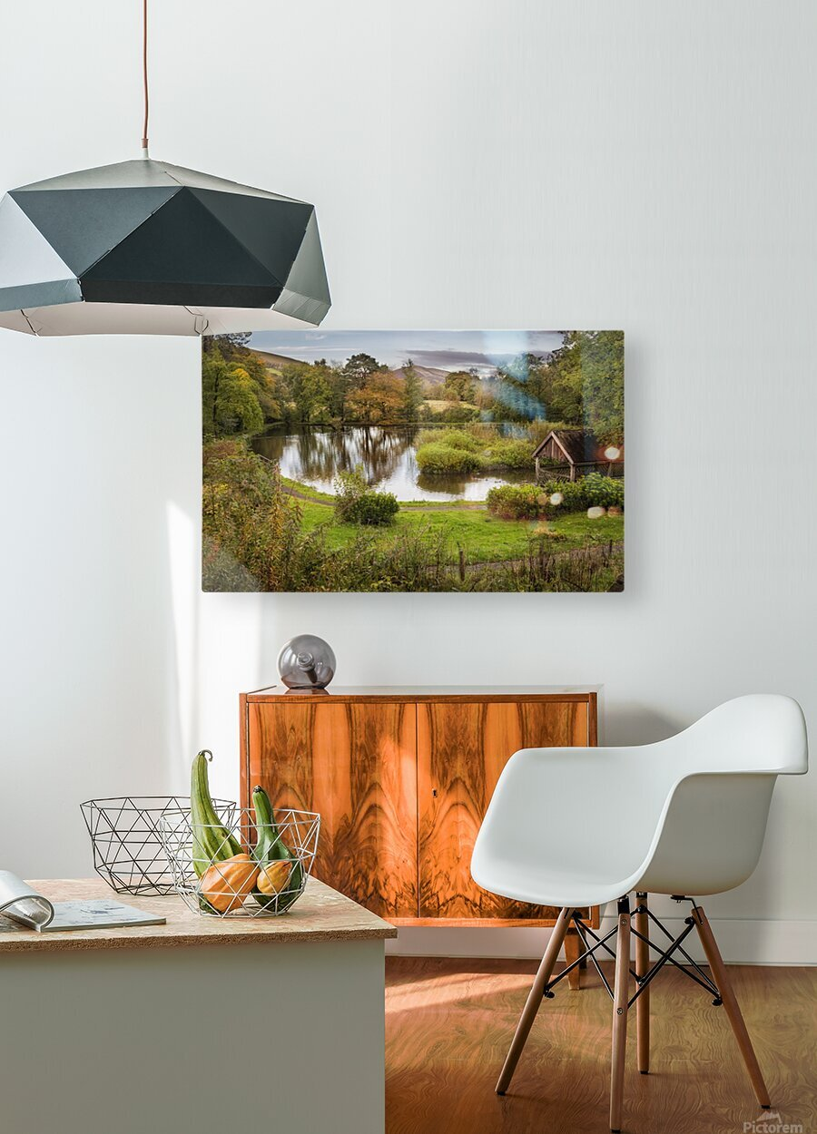 Craig-y-Nos Country park  HD Metal print with Floating Frame on Back
