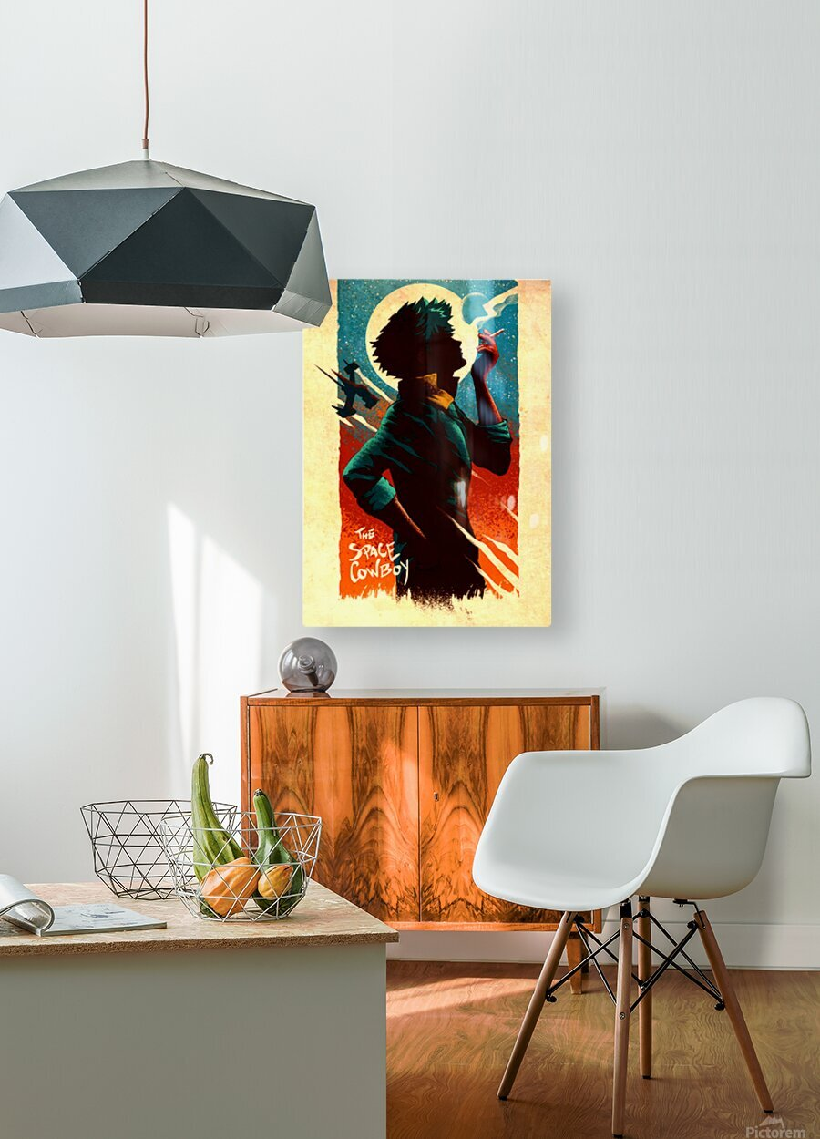 Spike COWBOY BEBOP  HD Metal print with Floating Frame on Back