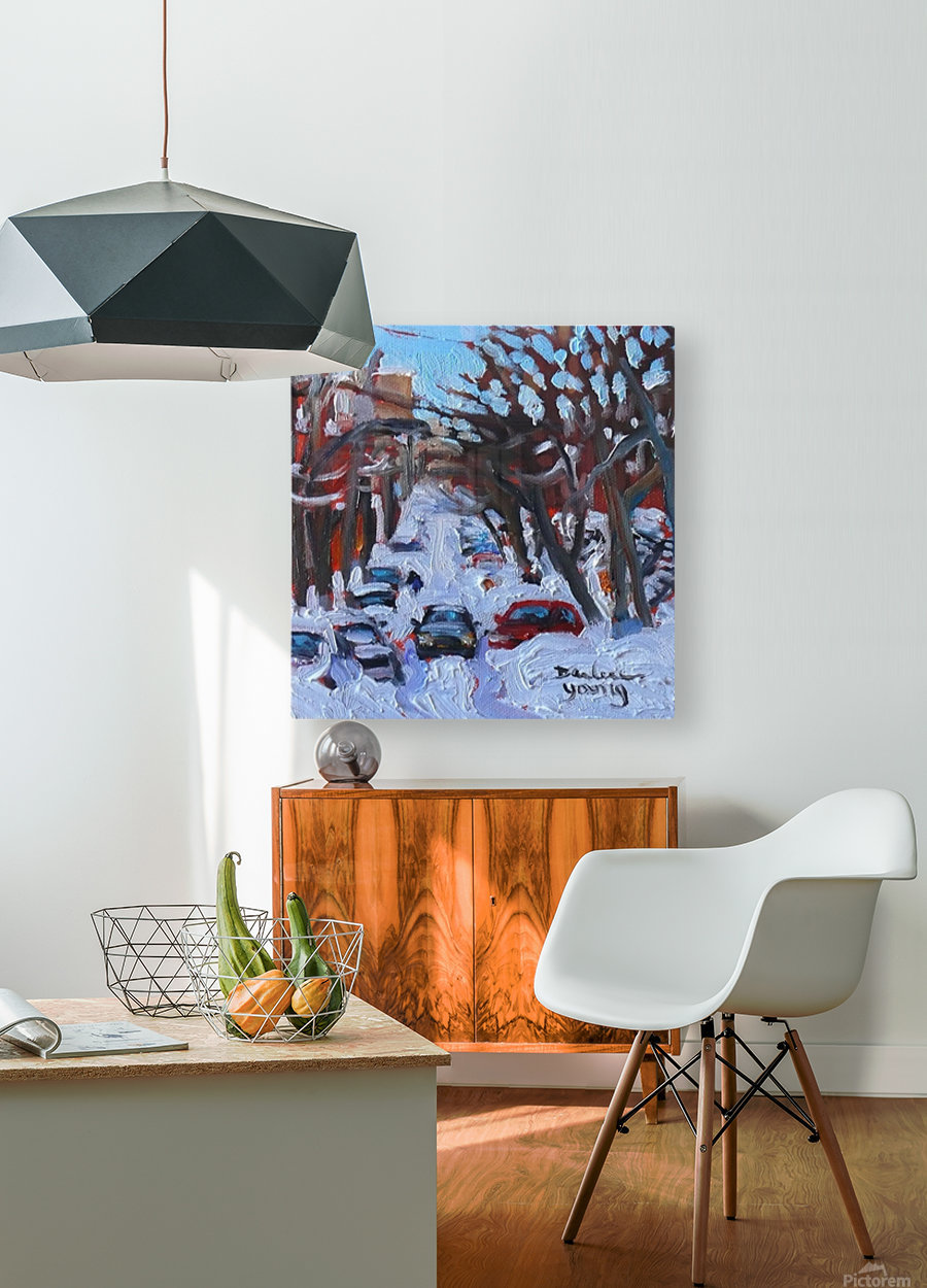 Montreal Est, Winter Scene  HD Metal print with Floating Frame on Back