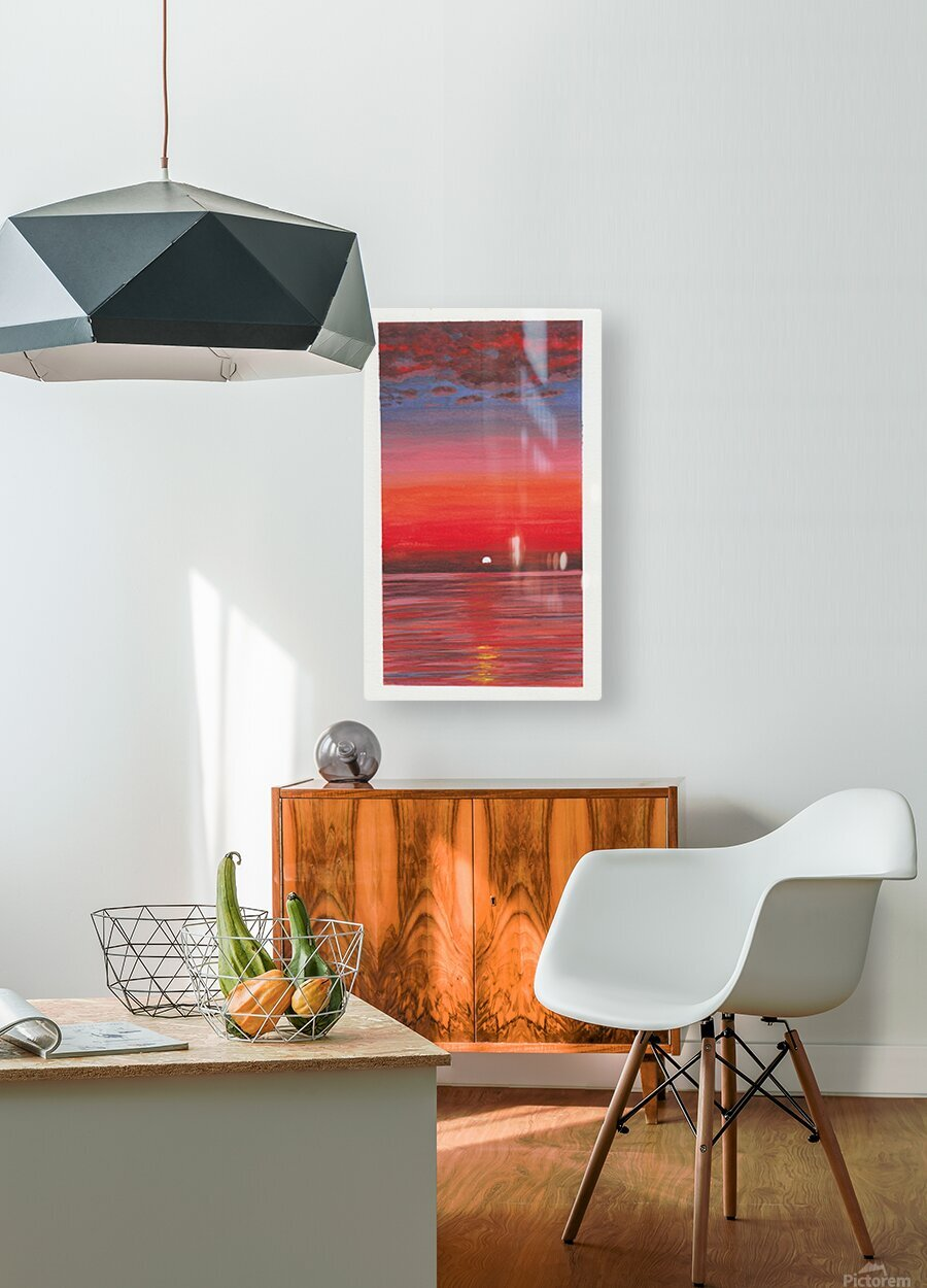 Ruby Night   HD Metal print with Floating Frame on Back