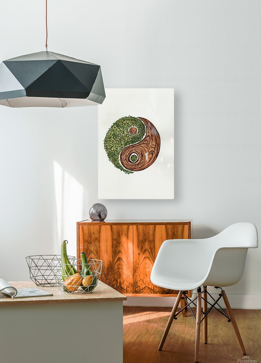 Ying yang  HD Metal print with Floating Frame on Back