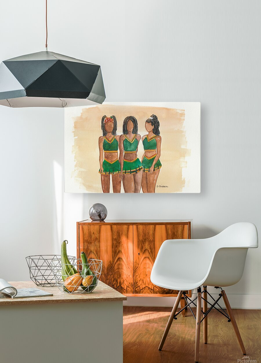 Clovers  HD Metal print with Floating Frame on Back