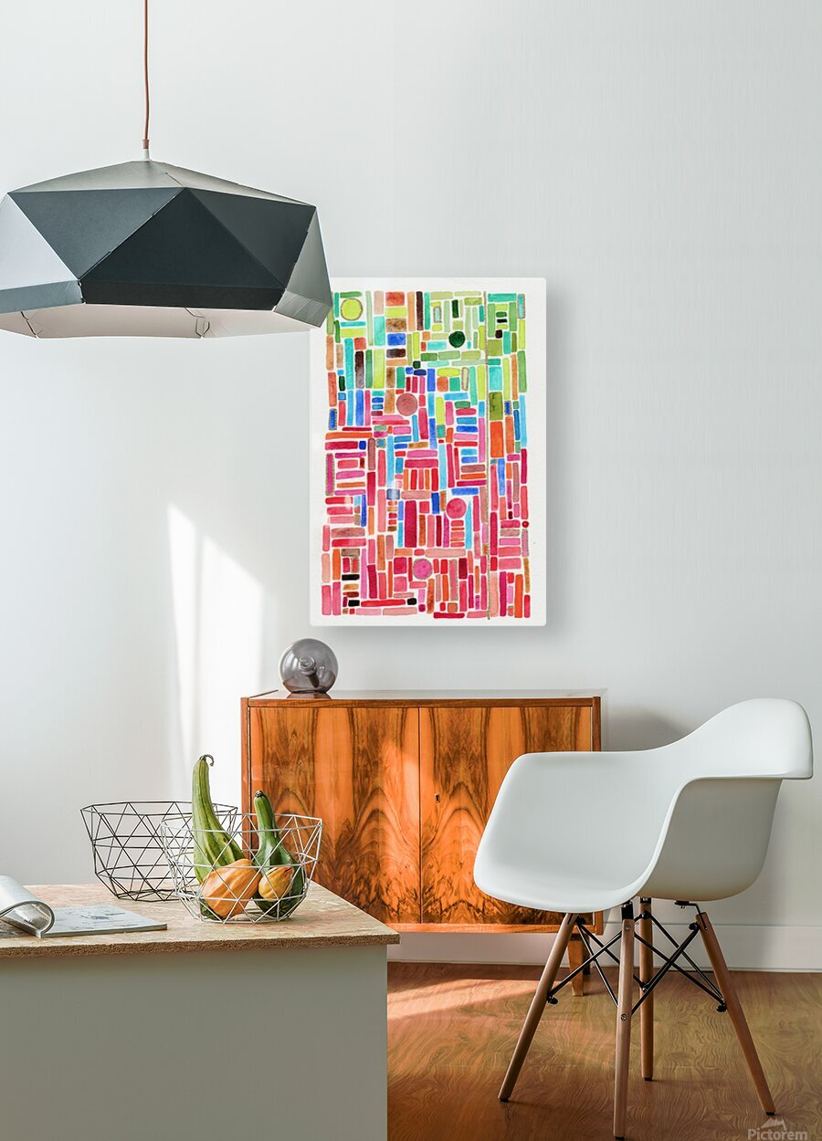 Stained Glass  HD Metal print with Floating Frame on Back