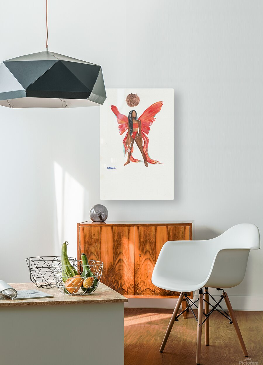 Sunchild  HD Metal print with Floating Frame on Back