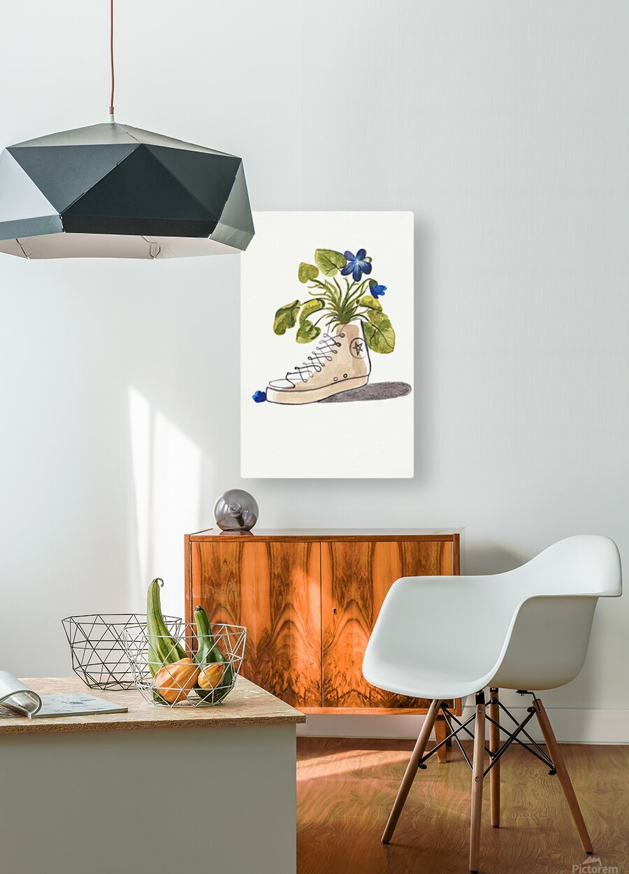 Chucks and Flowers   HD Metal print with Floating Frame on Back