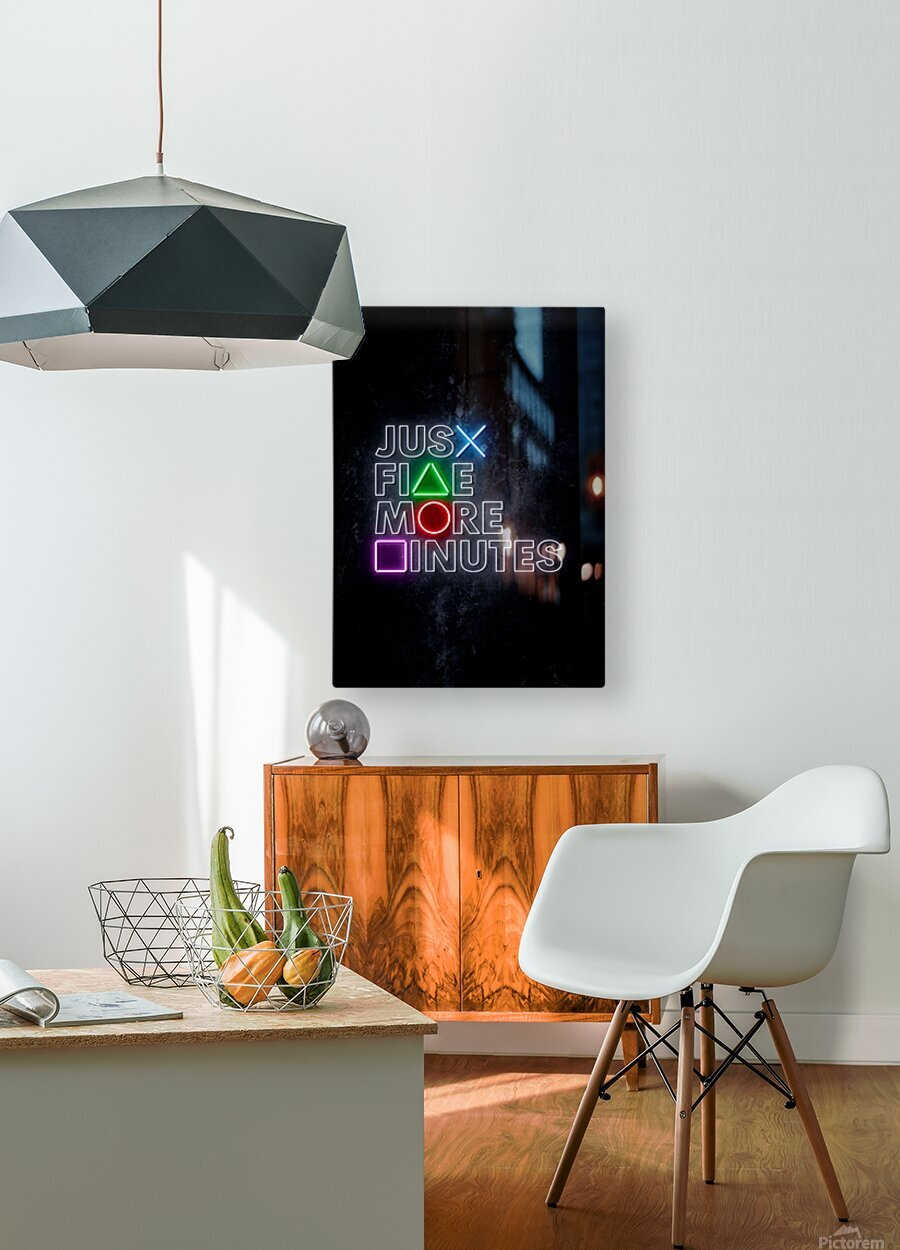 JUST FIVE MORE MINUTES  HD Metal print with Floating Frame on Back