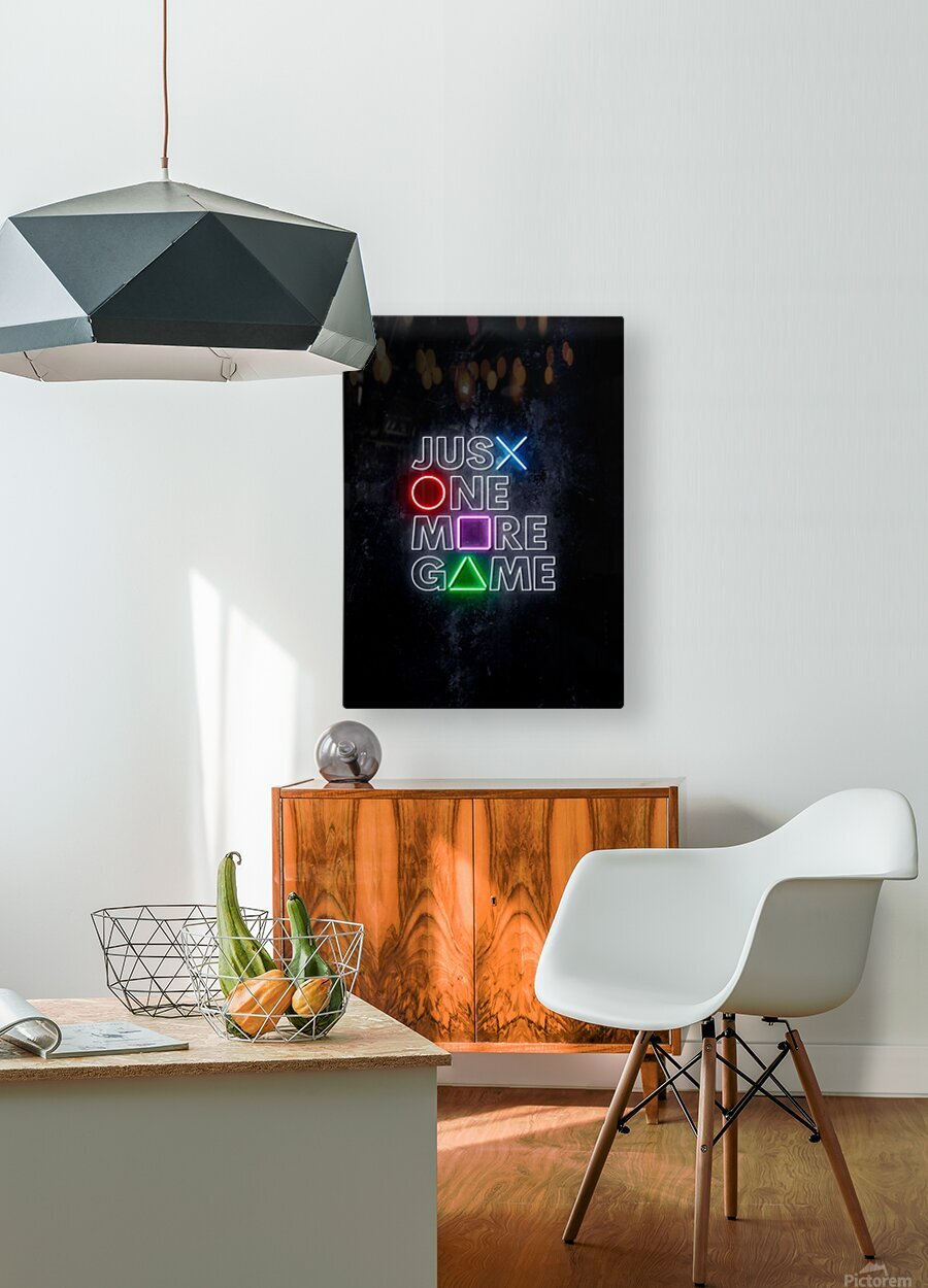 JUST ONE MORE GAME  HD Metal print with Floating Frame on Back