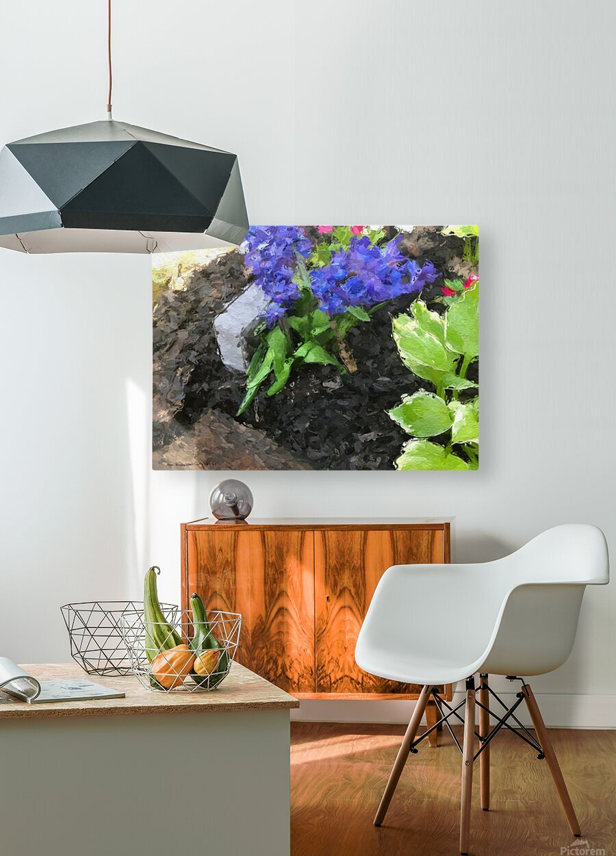 Flower p  HD Metal print with Floating Frame on Back