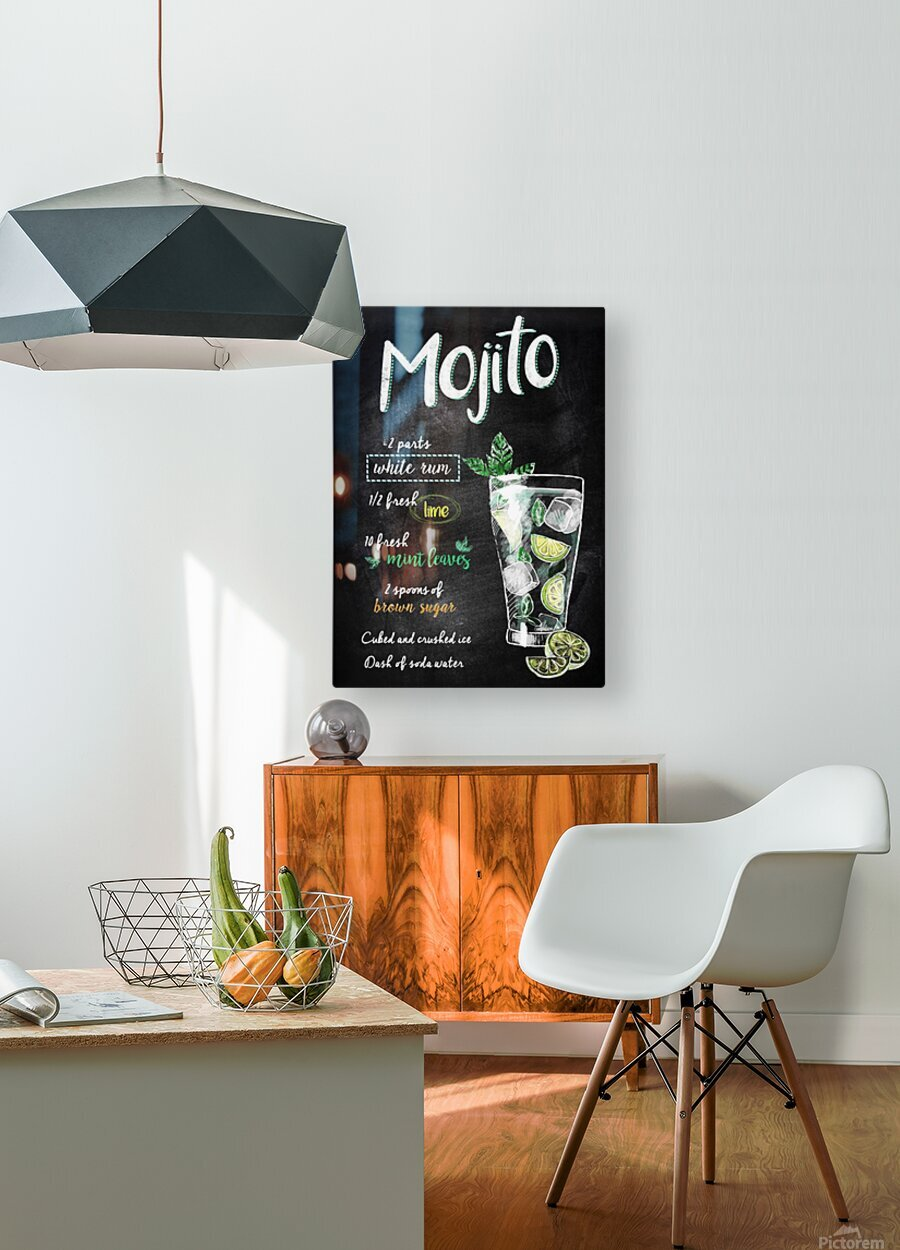 Mojito  HD Metal print with Floating Frame on Back