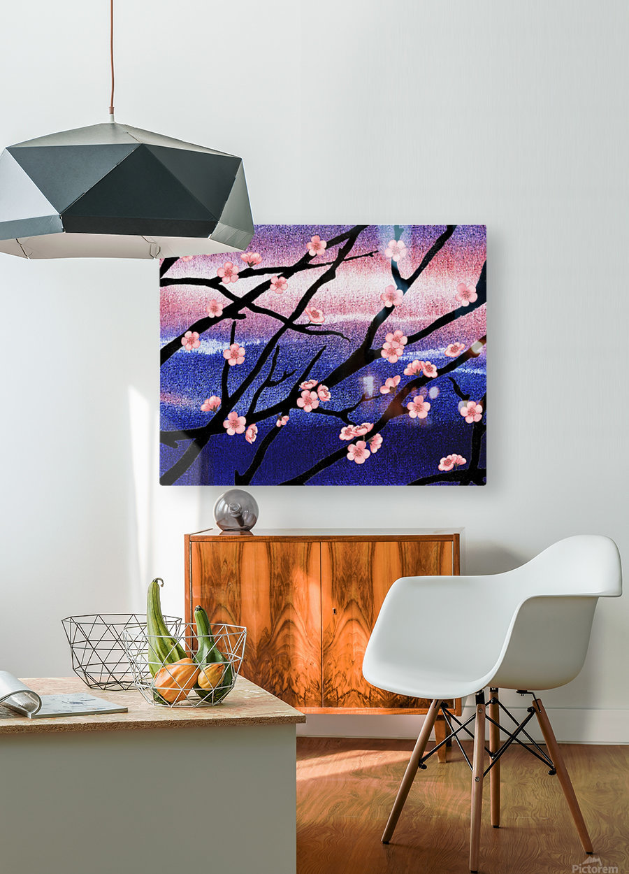 Cherry Blossoms  HD Metal print with Floating Frame on Back