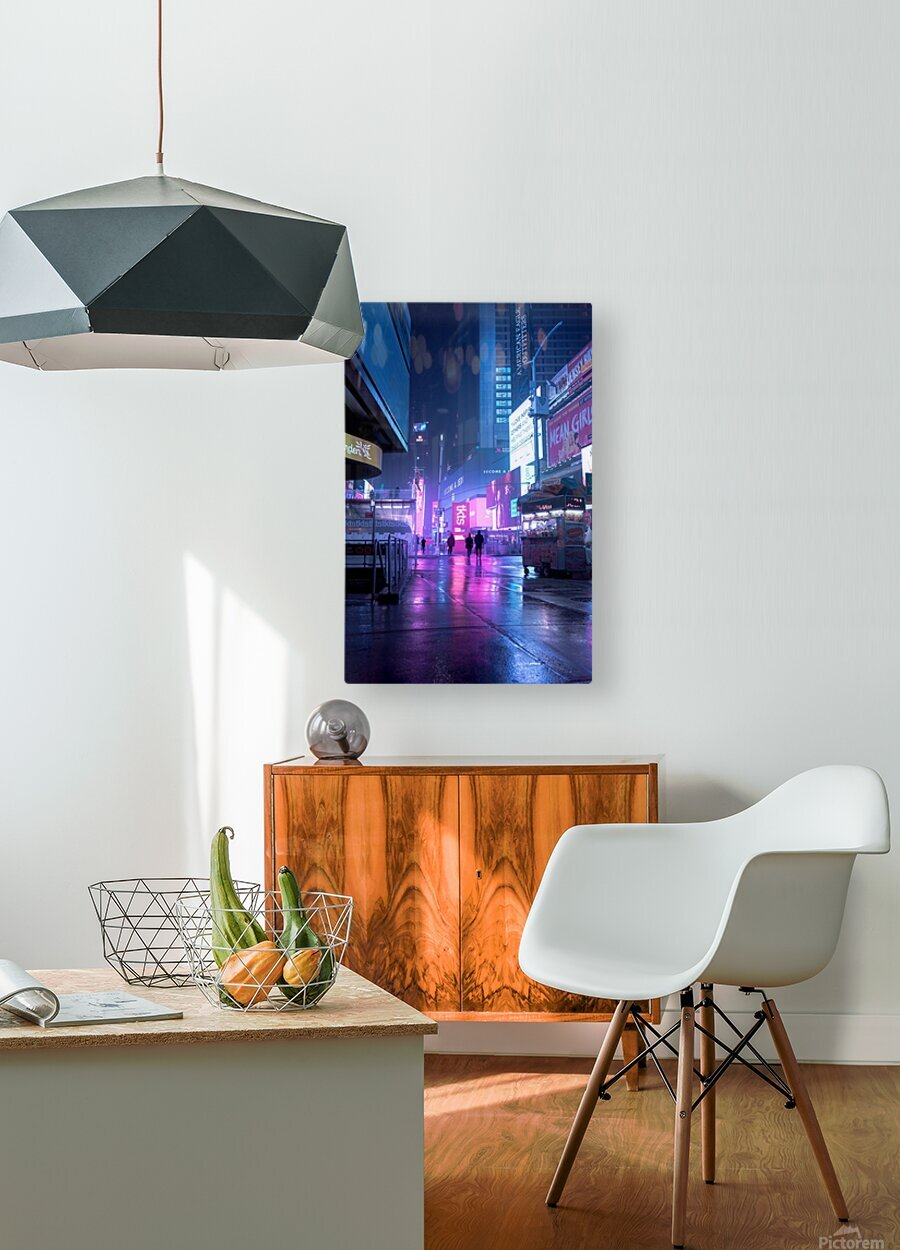 Future Vision  HD Metal print with Floating Frame on Back